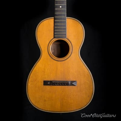Vintage 1880s-1910s Lyon & Healy style American Parlor Guitar for sale