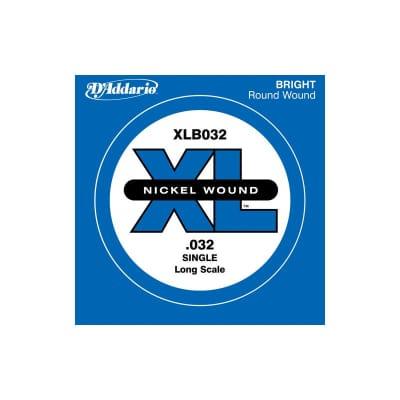 D´Addario Nickel Wound Single Bass String XLB032