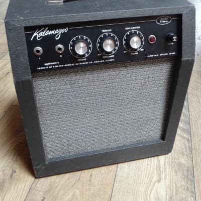KALAMAZOO Model TWO - 1965 Black Vintage Blues Amplifier for sale