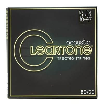 Cleartone .010-.047 ULTRA LIGHT 80/20 Bronze Acoustic Guitar Strings 7610 6 PACKS