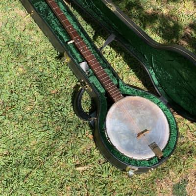 ODE (?) Vintage Long Neck Banjo c. 1960s -- 5 Piece Neck ! -- w/ HSC for sale