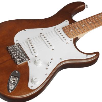 Cort G100OPW G Series Meranti Body Hard Maple/C Shape 6-String Electric Guitar - Open Pore Walnut for sale