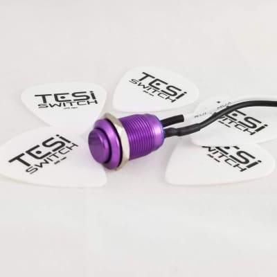 Tesi IDO 12MM Momentary Purple Metal Kill Switch for Fender Strat, Les Paul, Ibanez-No Battery