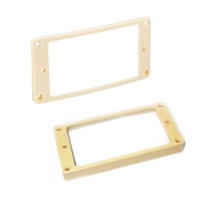 HOSCO H-MR-FLI + H-MR-RLI Humbucker Frame Set, cream for sale