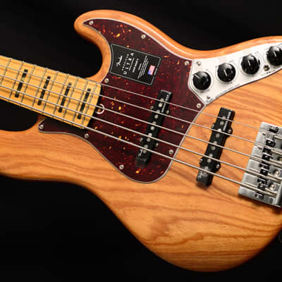 NEW Fender American Ultra Jazz Bass V 5 String Natural! for sale