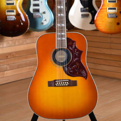 Epiphone Inspired by Gibson Hummingbird 12 Corde Aged Cherry Sunburst Gloss for sale