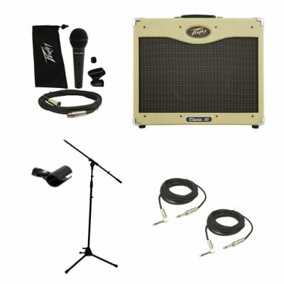 """Peavey Classic 30 112 Electric Guitar Combo 30W Amp 12"""" Speaker Mic Stand Cables"""