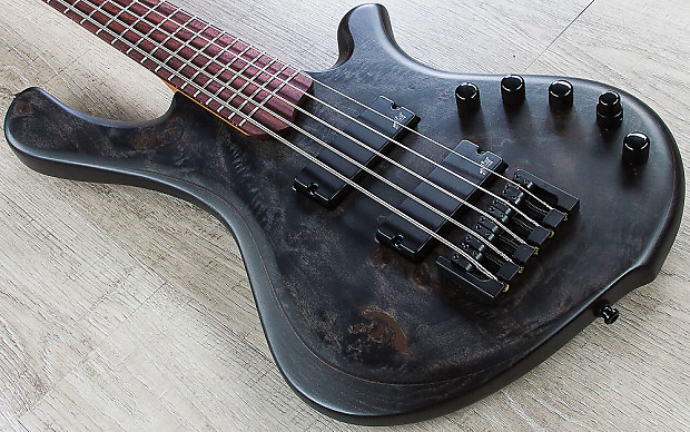 Mayones BE Elite EP 5 Bass, Trans Black Satin, Aguilar Pickups, Rosewood  Board, NAMM Special, 34 25