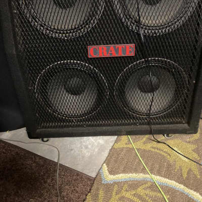 Crate GC-412R Slant and Bottom Cabinet loaded with 4 x 12 Celestion G12L-35 (8 ohm) speakers 1987 Bl