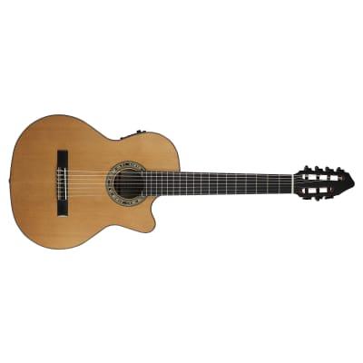 Kremona Fiesta CW-7 Classical 7-String Acoustic Electric Guitar, Red Cedar Top for sale