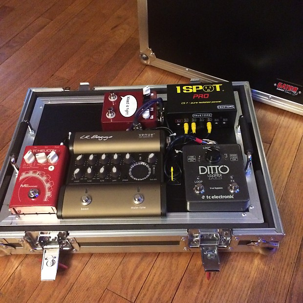Loaded Professional Acoustic Guitar Pedalboard with ATA