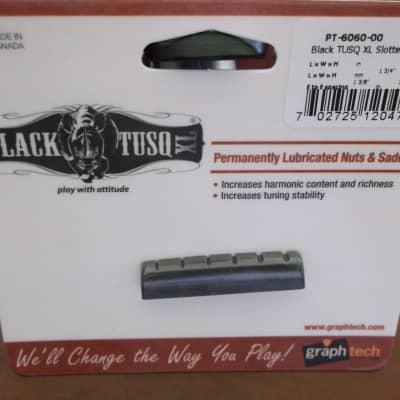 "Graph Tech PT-6060-00 BLACK TUSQ XL 1-3/8"" E-to-E Slotted Epiphone-Style Guitar Nut"