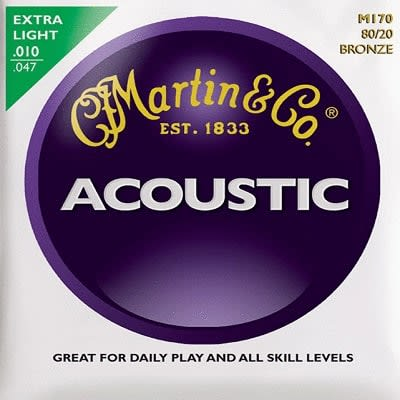 Martin 80/20 Acoustic Strings Bronze Extra light  10 - 47 for sale