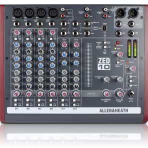 Allen & Heath ZED-10 10-Channel Mixer