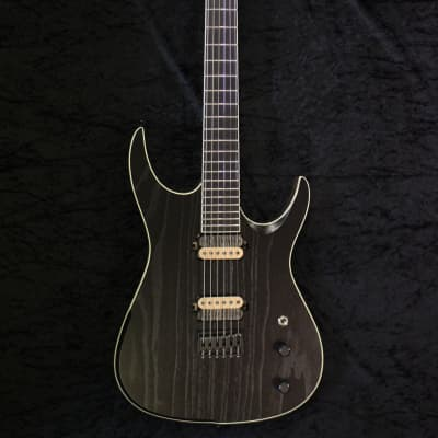 JPG (Josh Parkin Guitars) JPM6 (Vr2) Black & Walnut Open Grain with Rampage Pickups 2019 Black & Walnut Open Grain Matte for sale