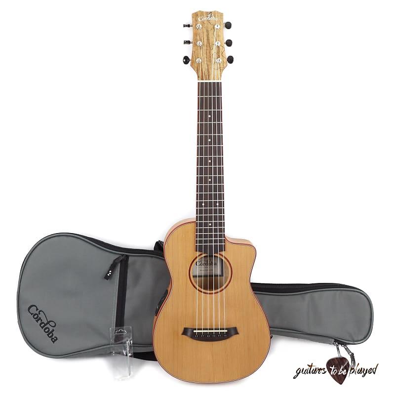 e38af60e78ee Cordoba Mini SM-CE Nylon String Compact Travel Acoustic/Electric Guitar w/  Bag