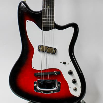 1967 Harmony Barclay H-14 Bobkat Single Pickup Electric Guitar - Redburst for sale