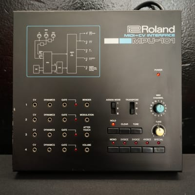 Roland MPU-101 80's MIDI To CV Interface For Vintage Synths & Eurorack