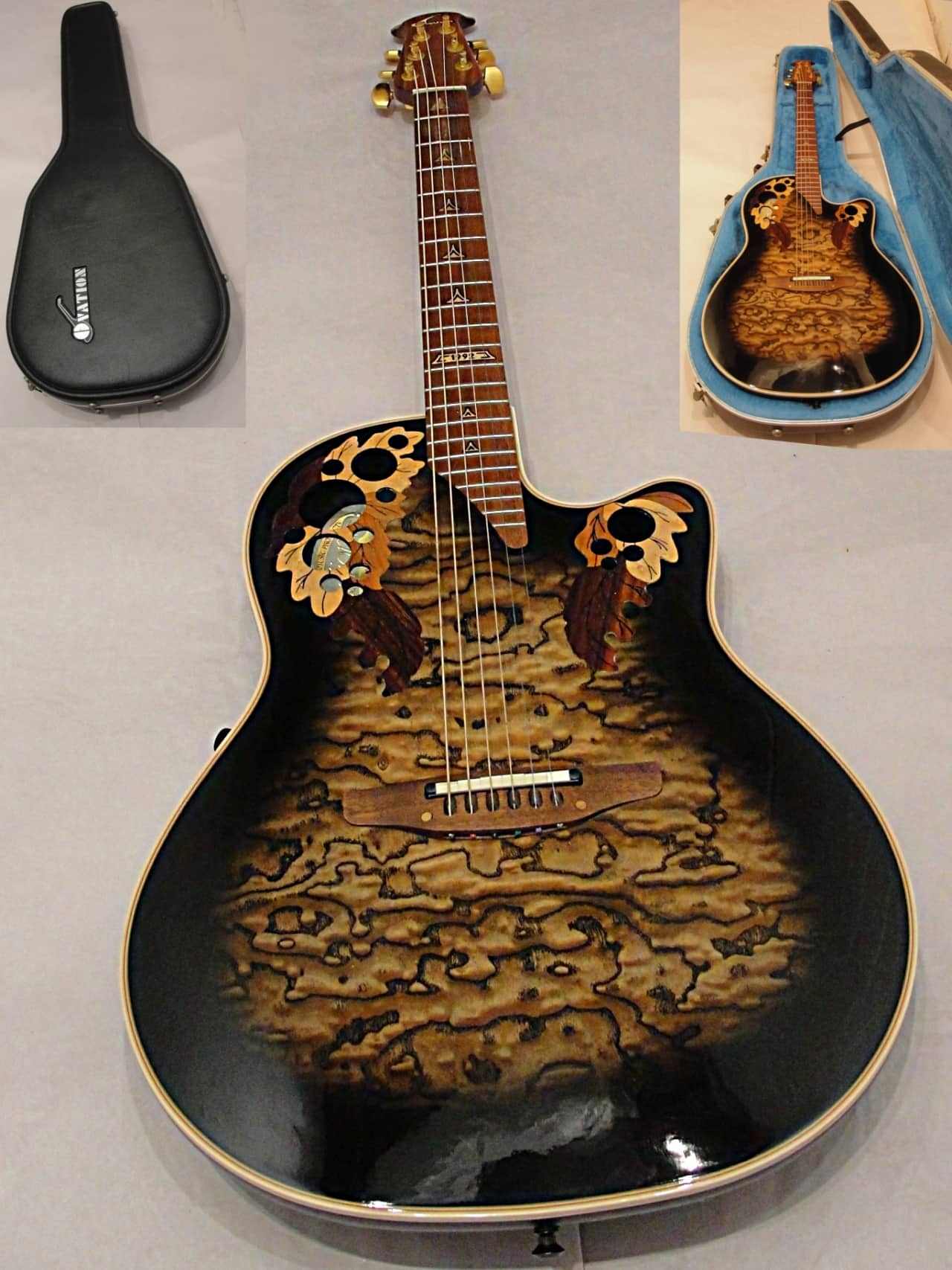 ovation 1992 collectors edition acoutic electric guitar with reverb. Black Bedroom Furniture Sets. Home Design Ideas