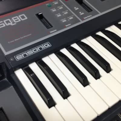 Ensoniq SQ-80 Cross Wave Synthesizer Featuring Analog filters, Poly Aftertouch Keybed,  Multi Timbra