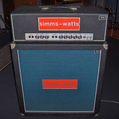 Simms Watts 100 MKI / 1970 Head + Cab for sale