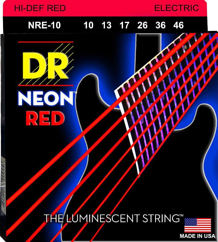 dr handmade nre 10 neon red electric guitar strings 10 46 med reverb. Black Bedroom Furniture Sets. Home Design Ideas