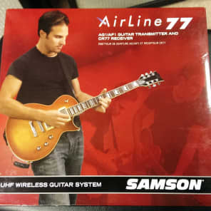 Samson Airline 77 True Diversity UHF Wireless Gibson Les Paul-Style Guitar System - Channel N1 (642.375 MHz)
