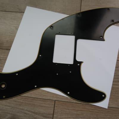 Fender Telecaster pickguard 1972 thru 1979  Black 3 Ply 70's Tele Bass USA