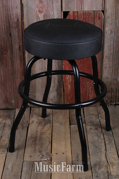 Fender 174 Guitars Blackout Barstool Black 24 Inch Tall 360