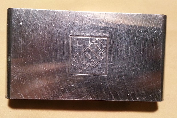 GFS Titanium Strat Tremolo Block Import 10 5mm XGP Spaced Machined Silver
