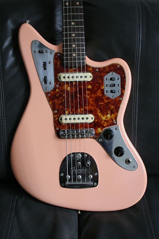 fender jaguar 1963 shell pink reverb. Black Bedroom Furniture Sets. Home Design Ideas