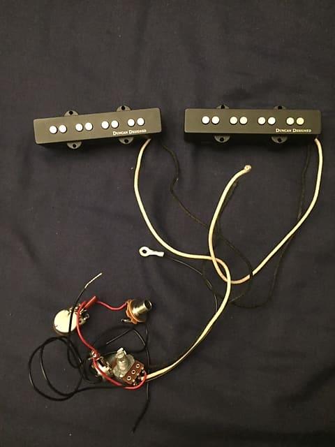 Awe Inspiring Seymour Duncan Jb 101 Duncan Designed Jazz Bass Pickups Black Reverb Wiring Cloud Hisonuggs Outletorg