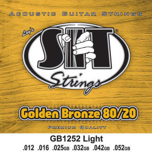SIT GB1252 Golden Bronze 80/20 Acoustic Guitar Strings - Light 12-52