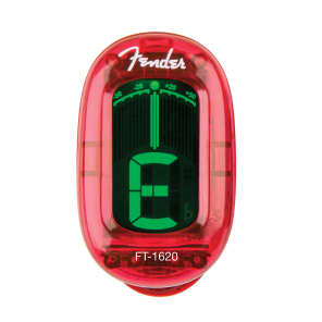 Genuine Fender® FT-1620 California Series Clip-onTuner 023-9981-009 Red