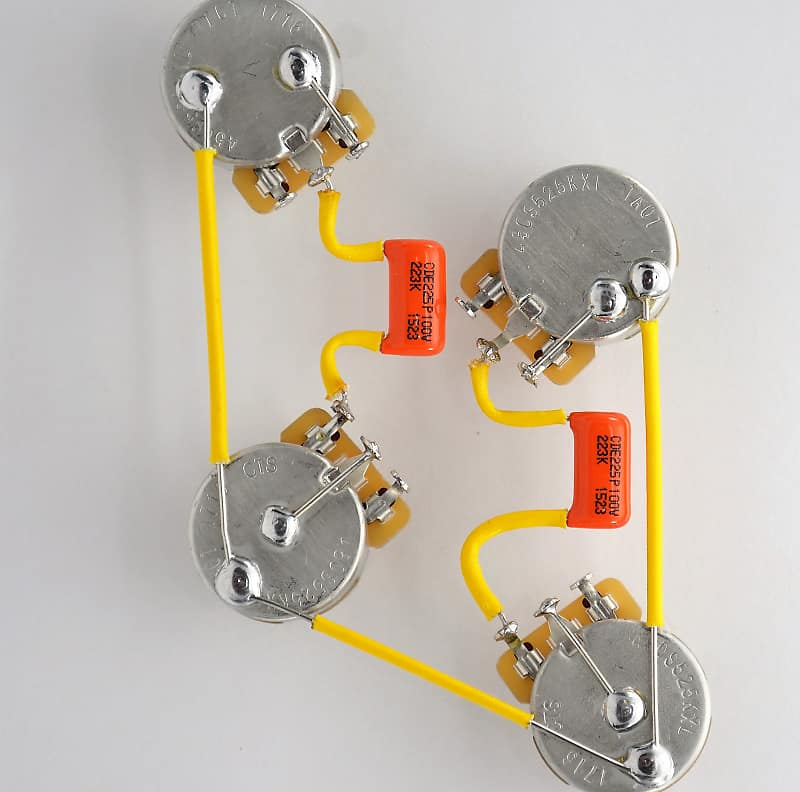 Les Paul Wiring Harness Custom by JEL - 525k CTS SHORT Shaft - 716P Who Is Wiring Harness on