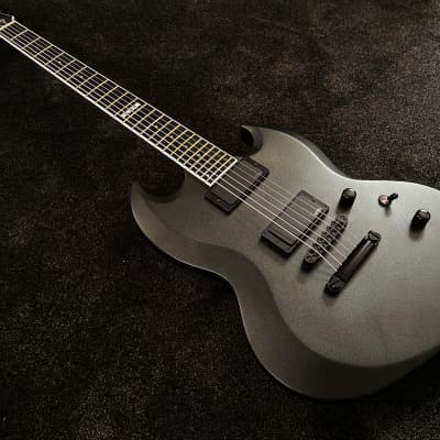 ESP E-II Viper Baritone  CHMS - Charcoal Metallic Satin - MINT condition + case for sale