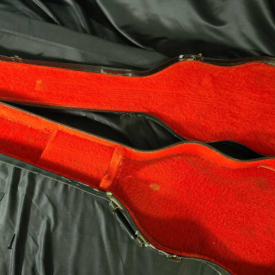 Gibson Early 60s SG Chipboard Case 1960s Black With Red Interior