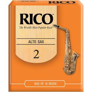 Rico RJA1020 Alto Saxophone Reeds - Strength 2.0 (10-Pack)