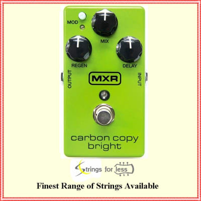 MXR M269SE Carbon Copy Bright Analog Delay Guitar Effects Pedal for sale