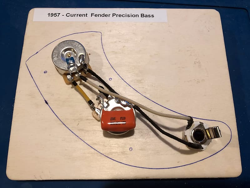 Prewired Precision B Wiring Harness - CTS, Sprague, Treble Bleed - on