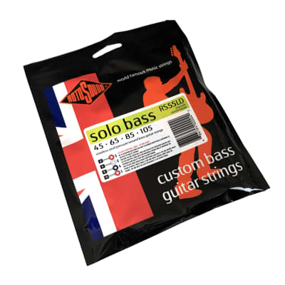 Rotosound RS55LD Solo Bass 55, Stainless Steel Pressure Wound, Custom Bass Guitar Strings