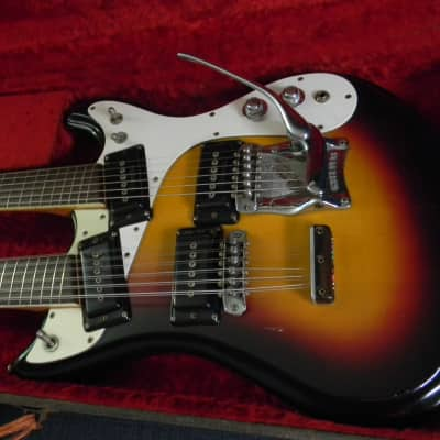 1966 Mosrite Joe Maphis Double Neck Sunburst #2J055 L@@K! for sale