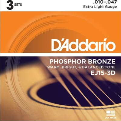 D'Addario EJ15-3D Strings XL 3pk