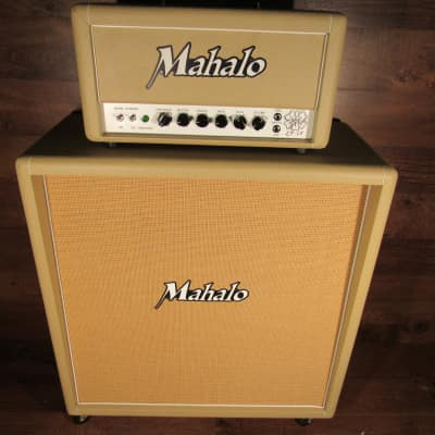 Mahalo Katy 66 Tube Amplifier Head With 412 Cabinet  Tan for sale