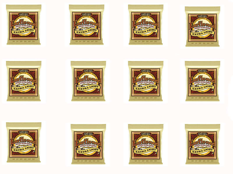 Ernie Ball 2006 Extra Light Earthwood 80/20 Bronze Acoustic Guitar Strings 12 Pack Special image
