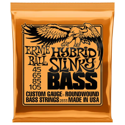 Ernie Ball Hybrid Slinky 45-105 4-String Bass Guitar Strings