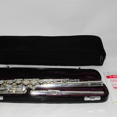 Yamaha YFL-411 II Silver Tube E-Mechanism Flute RefNo 1350