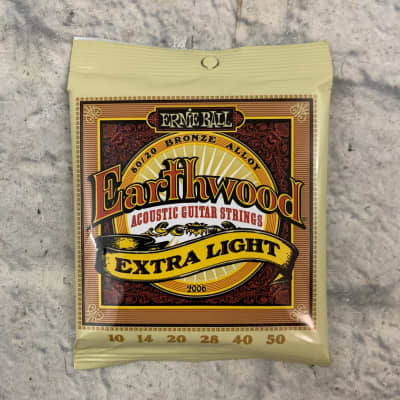 Ernie Ball Earthwood Extra Light 80/20 Bronze Acoustic Guitar Strings 10 - 50