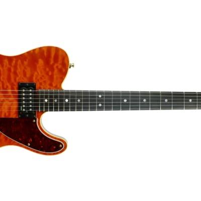 Fender Custom Shop Set Neck Telecaster C/A 1994 Sunset Orange Transparent for sale