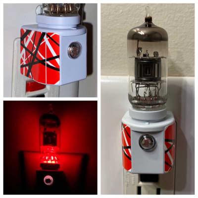 12AX7 Style Vintage Vacuum Tube Red LED Night Light RWB Base with Valve from Peavey Marshall